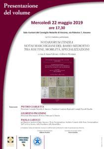 NOTARIORUM ITINERA - ANCONA 22.05.2019